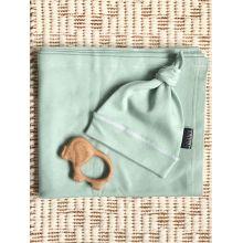 Набор из пеленки и шапочки MamaPapa Magic Mint