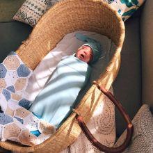 Набор из пеленки и шапочки MamaPapa Heaven