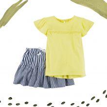 Комплект Carters из футболки и юбки-шорт